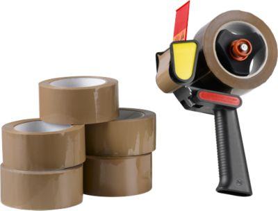 Qtape® 6 verpakkingsplakband 222 + 1 afroller GRATIS