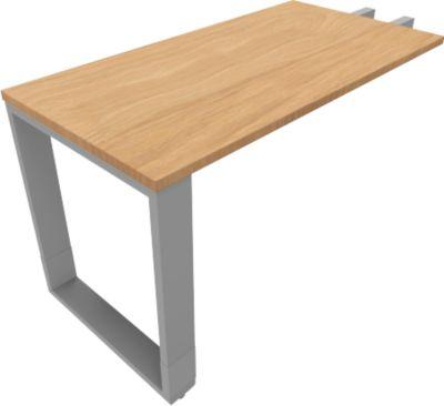 QUANDOS BOX aanbouwtafel, slede-onderstel, rechthoek, b 1200 x d 600 x h 720-820 mm, Masonic-eiken