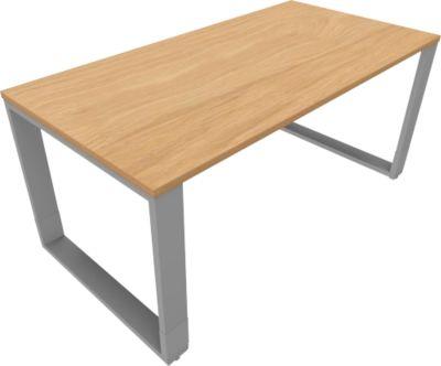 QUANDOS BOX bureautafel, slede-onderstel, rechthoekig, B 1600 x D 800 x H 720-820 mm, Masonic-eiken