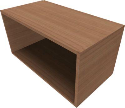 QUANDOS BOX open kast, 1 OH, b 1000 x d 420 x h 374 mm, kersen Romana-decor