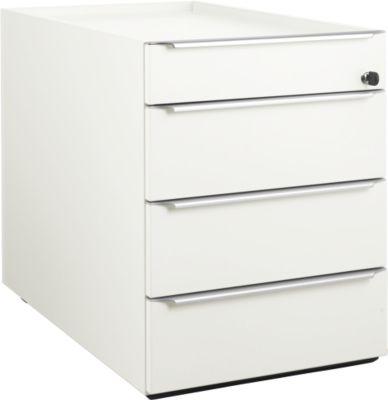 QUANDOS BOX verrijdbare ladenblok, 1 + 3 laden, b 430 x d 800 x h 570 mm, wit