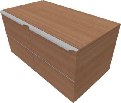 QUANDOS BOX vleugeldeurkast 1 OH, B 1000 x D 440 x H 374 mm, kersen-Romana