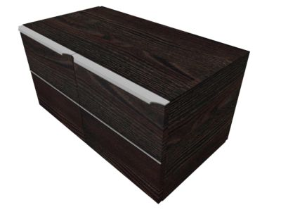 QUANDOS BOX vleugeldeurkast 1 OH, B 1000 x D 440 x H 374 mm, Moor-eiken