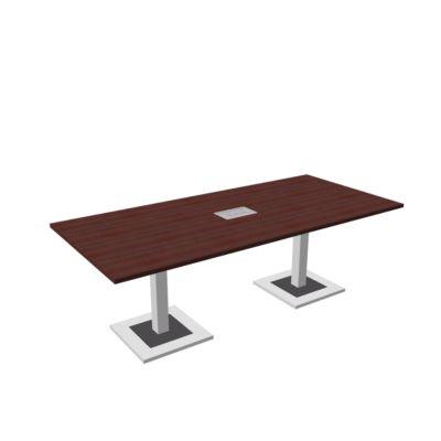 Quandos vergadertafel, incl. aansluitpaneel, B 2200 x D 1000 x H 720-820 mm, ahorn-Brazil