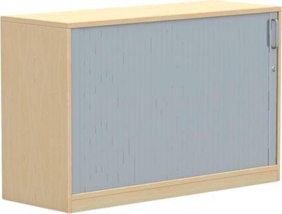 Querrollladenschrank BEXXSTAR, 2 Ordnerhöhen, Sichtrückwand, H 825 mm, Buche-Dekor