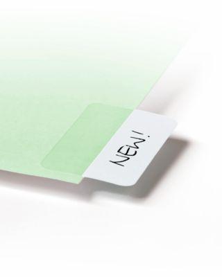 Quick Tab Permanent Beschriftungsreiter, Länge 40 mm, weiß