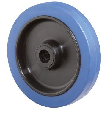 Rad, Elastic blau, rollengelagert, Bauhöhe 100 mm
