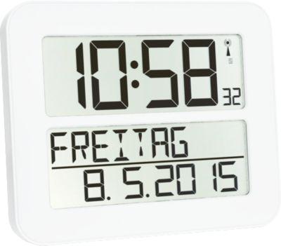 Radiogestuurde klok Time Line MAX, wit
