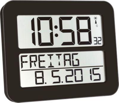 Radiogestuurde klok Time Line MAX, zwart