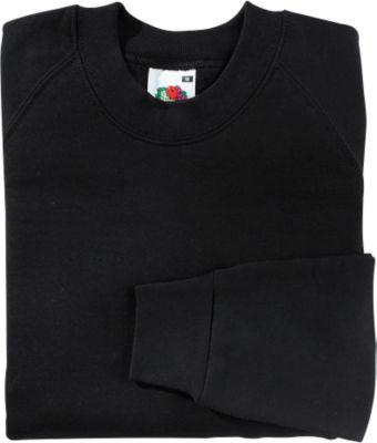 Raglan Sweatshirt, schwarz, L