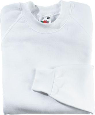 Raglan Sweatshirt, weiß, XXL