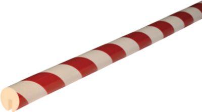 Randbeschermingsprofiel type B, in stukken van 1 meter, wit/rood