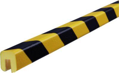 Randbeschermingsprofiel type G, 5m-rol, geel/zwart