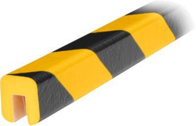 Randbeschermingsprofiel type G, in stukken van 1 meter, geel/zwart