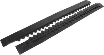Randleiste mit Verbinder, schwarz