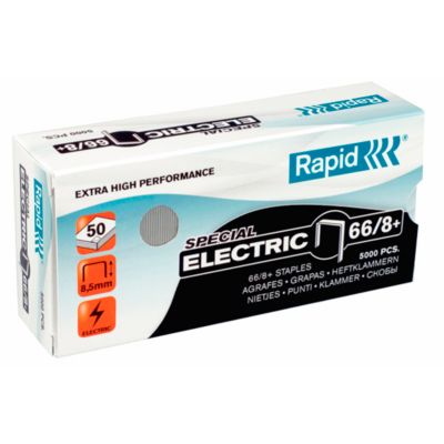 Rapid SuperStrong Heftklammern 66/8+ Electric, heftet bis 50 Blatt, 5.000 Stück