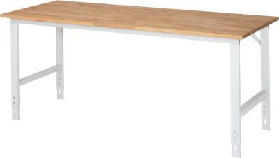 RAU Arbeitstisch, Buche-Platte, B 2000 x T 800 x H 760-1080 mm