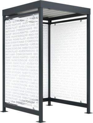 Raucherüberdachung Köln, Schäfer Shop Edition, anthrazit RAL7016