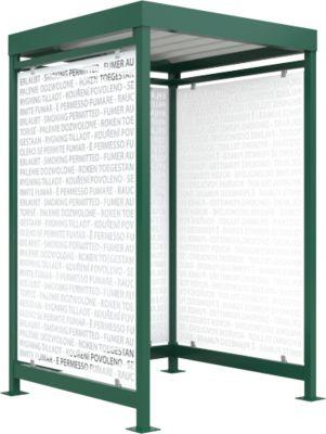 Raucherüberdachung Köln, Schäfer Shop Edition, grün RAL6005