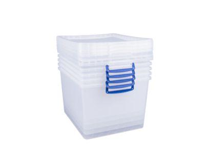 Really Useful Boxes Aufbewahrungsboxen, 33,5L, 5 Stück