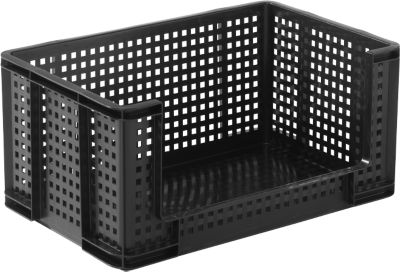 Really Useful Boxes roosterbox, 64 liter, opening vooraan, zwart