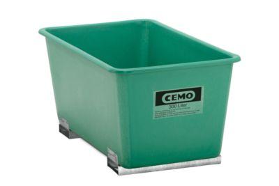Rechteckbehälter Standard, GFK, mit Staplertaschen, grün, 300 l