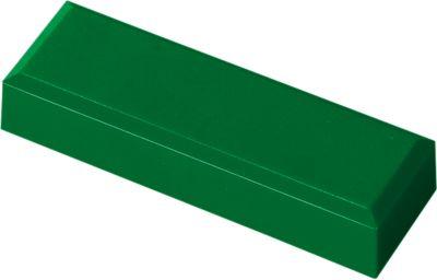 Rechteckmagnete, 50 x 23 x 5 mm, grün, 20 Stück