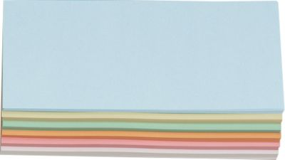 Rechthoekige kaarten, 95 x 205 mm, diverse kleuren, 250 st.