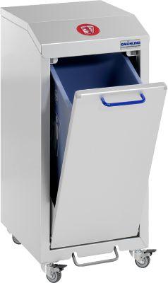 Recycleerbare afvalverzamelaar G-verzamelaar G-verzamelpunt X 2001, L 370 x B 490 x H 800 mm, 1-voudig