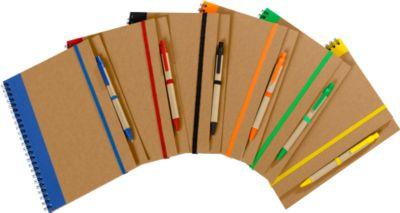 Recycling Notizbuch Tunel, gelb