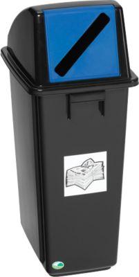 Recyclingverzamelaar, 58 liter, voor papier, blauw