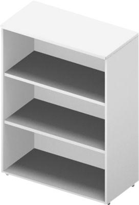 Regal ARLON OFFICE, 3 Ordnerhöhen, 2 variable Fachböden, B 900 x T 450 x H 1232 mm, weiß/weiß