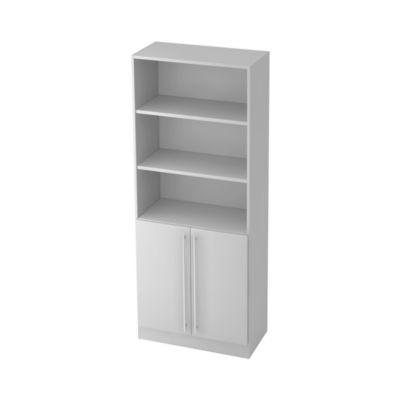 Regal TARVIS, 5 Ordnerhöhen, 2 Böden, 4 Schubladen, B 405 x T 420 x H 2004 mm, weiß