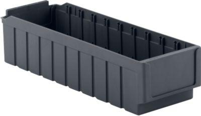 Regalkasten RK 521, 10 Fächer, aus recyceltem Kunststoff, eisengrau, 20 Stück