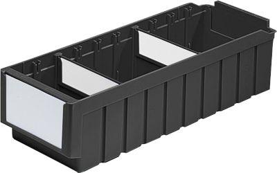 Regalkasten SSI Schäfer Serie RK 521, PP, ESD-leitfähig, L 508 mm, inkl. 2 Trennwände