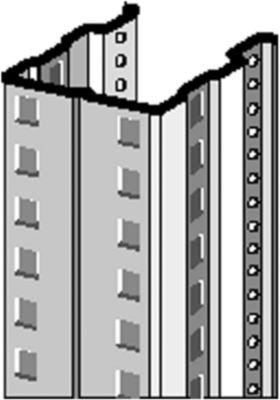 Regalrahmen PR 600,  T 850 mm, H 2500 mm, Stützenbreite 75 mm