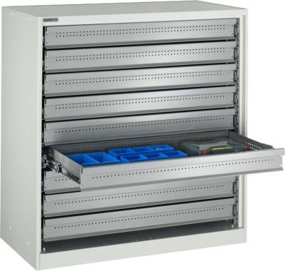 Regalschrank, lichtgrau, 1105 x 1055 x 520 mm