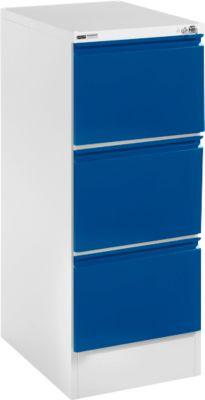 Registraturschrank, H 23 S, einbahnig, lichtgrau/enzianblau