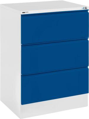 Registraturschrank, HD 23 S, 2-bahnig, lichtgrau/enzianblau
