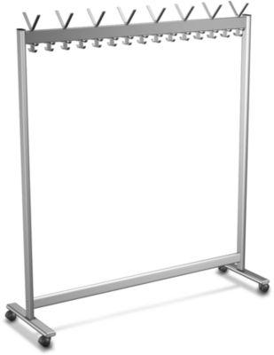 Reihen-Garderobenständer, Leichtmetall, 1560 mm breit, ohne Schirmhalterung