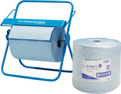Reinigingsdoekenrol Kimberly-Clark WYPALL* L-30 Ultra, 750 doekjes, 3-laags, met dispenser.