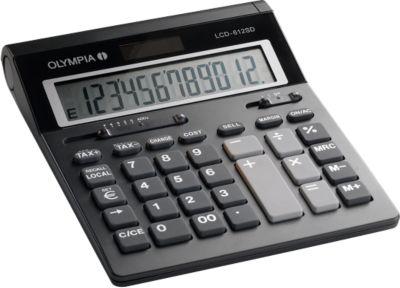 Rekenmachine Olympia LCD 612 Solar, , 12 cijfers, zwart