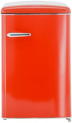 Retro-Kühlschrank RKS 120-16 RV A++, 121 l, B 550 x T 615 x H 875 mm, rot hochglanz