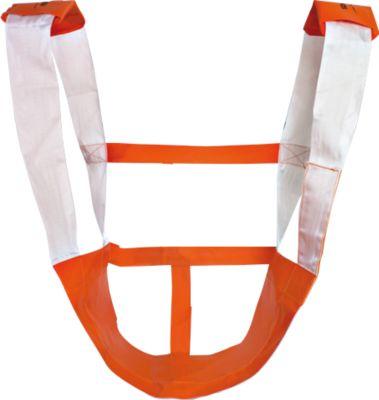 Rettungssitz KOMBI, stabile Klettverbindung, orange