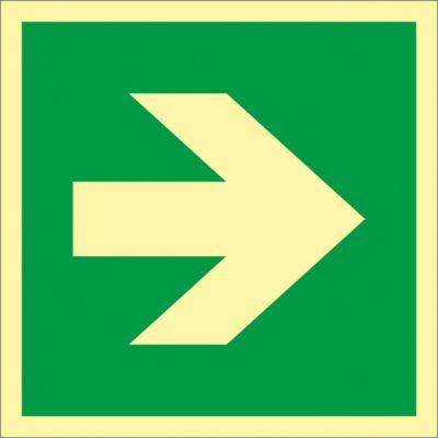 Richtungspfeil für Erste Hilfe-Einrichtungen, HLF