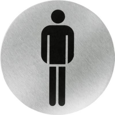 Roestvaststalen aanwijspictogram, WC-heren
