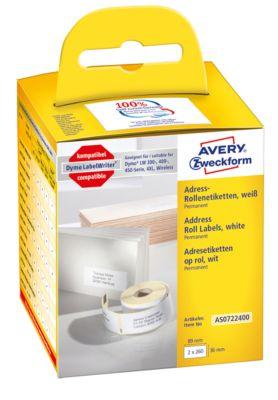 Rol. m. etik. Avery 89x36 mm, 2x260 st.