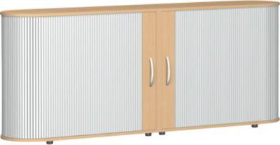 Roldeurkast ALICANTE, b 2000 x d 400 x h 828 mm, beuken