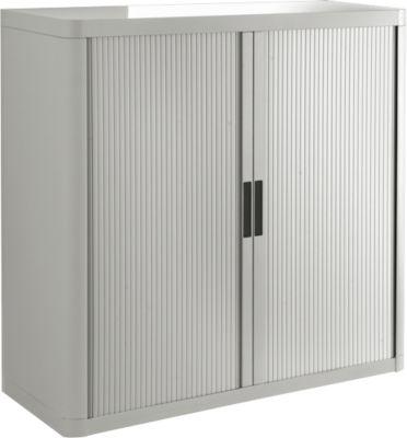 Roldeurkast, H 1040 mm, grijs/grijs
