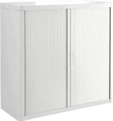 Roldeurkast, H 1040 mm, wit/wit